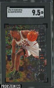 1996-97 Fleer Metal #14 Scottie Pippen Chicago Bulls HOF SGC 9.5 MINT+