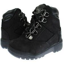 Timberland 6-Inch Field Boot Toddler Boys Black Leather Mesh Kids Boots 44890