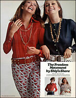 1970 Susan Blakely Ship'n Shore clothing stores vintage photo print Ad adL50