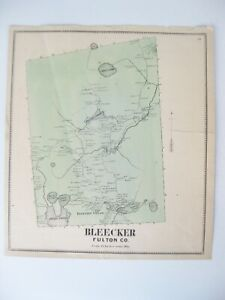 Vintage 1868 Map – Bleecker in Montgomery & Fulton Counties, NY