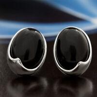 Onyx Silber 925 Ohrringe Damen Schmuck Sterlingsilber S549