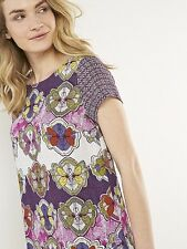 WHITE STUFF Perfect Day Tunic Top Pink Flowers Quirky Cute RRP £55 UK 8, 10