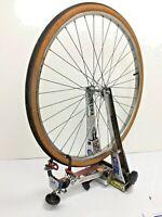 "Vintage Chrome 26"" x 1 3/8 Front Bicycle Wheel w/ Tire 3-speed Touring Bike #594"
