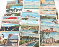 .* AMERICANA !! NICE JOB LOT 1930s / 1940s 33 USA AMERICAN POSTCARDS. #3