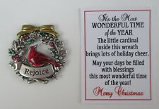 cc Rejoice cardinal IT'S THE MOST WONDERFUL TIME OF THE YEAR Pocket token charm