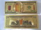 Gold Banknote Beer Money Fishing Bait Ice Augers Plastic Runner Lures Crankbait