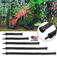 US Flexible Air Bubble Wall Curtain Diffuser Tube Aquarium Fish Tank Pump 7 Size