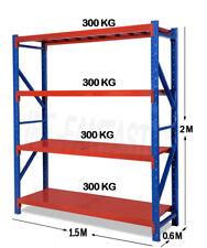 2MX1.5M X 0.6M 1200kg Garage Shelving Long Span Steel Warehouse Longspan Storage