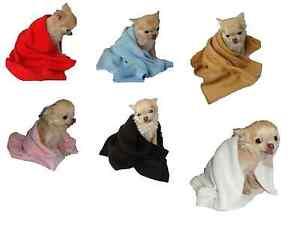 Dog Fleece Blanket plain small animal pet puppy cat kitten xs -s -m