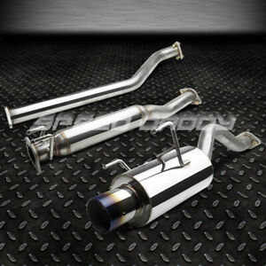 """FOR 02-06 ACURA RSX DC5 NON TYPE-S STAINLESS 4""""BURNT TIP MUFFLER CATBACK EXHAUST"""