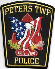 """Peters Township, PA  (4.25"""" x 5.25"""" size) shoulder police patch (fire)"""