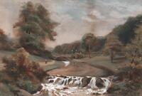 CHARLES FREDERICK ALLBON Watercolour Painting FIGURES IN LANDSCAPE c1880