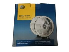 PAIR OF HELLA COMET 500FF KIT SPOT DRIVING LAMP LIGHT + COVERS RALLY JEEP TRUCK
