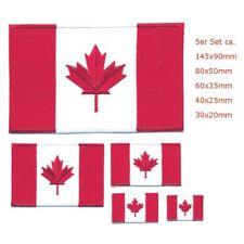5 Canada Drapeaux Canada Flags Ottawa Alberta patch écusson Aufbügler Set 1089