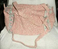 Vera Bradley small duffel travel bag in retired Pink INdiana Tags