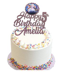 Frozen Themed Birthday Glitter Cake Topper