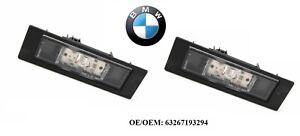 2x BMW E81 E87 F20 F21 F12 LED Lampe d'éclairage de plaque original 63267193294