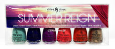 China Glaze Nail Lacquer  - MINI SUMMER REIGN - 6 Colors x 3.6ml/0.125oz