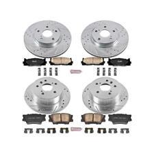 Power Stop K857 Rear Brake Kit with Drilled//Slotted Brake Rotors and Z23 Evolution Ceramic Brake Pads
