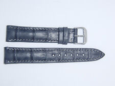 RIOS1931 Germany Embossed Alligator Grain Watch Band Strap 18 mm Gray LOUISIANA