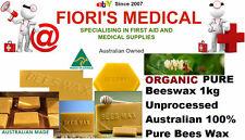 BEESWAX PURE ORGANIC 1kg UNPROCESSED 100% AUSTRALIAN