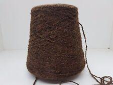Wolle Garn Stricken weben&häkeln  Bouclè effektgarn  sehr dick braun 2kg  pay04