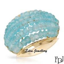 $2429 FPJ Genuine 11.19ctw APATITE Ring 14K Yellow Gold Beautiful Design 80% OFF