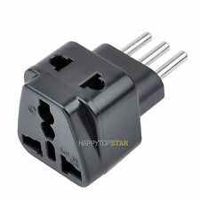 Splitter 2 Universal UK/US/EU/AU Outlet to Italy Italian 3 Pins AC Plug Adapter