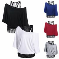 Fashion Women Lace Singlet Vest Tank Top Ruffle Blouse Punk Gothic Style Shirt