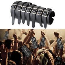 7 Buckle Gothic Punk Leather Arm Bracer Armor Cuff Wristband Bracelet Cosplay