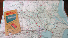 "1957 Military 21""x30"" KANTO AREA~JAPAN Sightseeing Drive Map~Nihon Chizu Co Ltd"