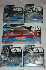 Star Wars Hot Wheels Starships x6 bundle inc Slave I + Darth Vader's Tie Fighter