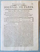 Afrique en 1789 Bambouc Voyage Rare Journal de Paris