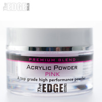 The EDGE NAILS 8g Premium Blend PINK ACRYLIC POWDER Fast Setting Self Levelling