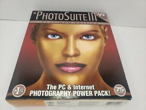 MGI Software PhotoSuite III Platinum Edition Big Box Sealed Photography 2000