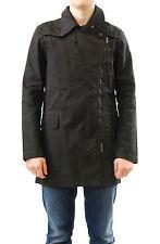 Denham Men's New 'Sumak' Asymmetric Zip Front Macintosh Coat Black Size M BCF512