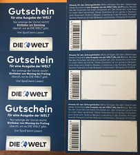 24 Gutscheine DIE WELT - 4 Wochen Mo - Sa - Auch im AUSLAND GÜLTIG BIS 12/2023