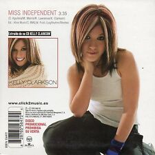 "KELLY CLARKSON ""MISS INDEPENDENT"" SPANISH PROMO CD SINGLE / CHRISTINA AGUILERA"