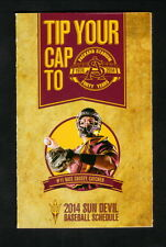 Arizona State Sun Devils--2014 Baseball Pocket Schedule