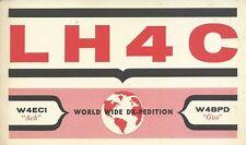 OLD VINTAGE LH4C BOUVET ISLAND DX-PEDITION AMATEUR RADIO QSL CARD