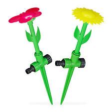 """Sprinkler Blume 2er Set, Spritzblume Garten, Rasensprenger Kinder, Beregner 1/2"""""""