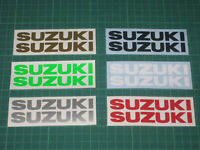 2 SUZUKI Decals Stickers Motorbike Motorcycle Tank Fairing Helmet Wheels Printed