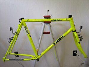 Trek 6000 MTB aluminum frame steel fork rad Neon Yellow splatter Sz 22 in