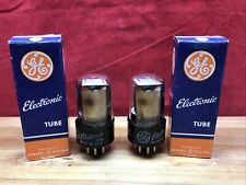 Matched Date Pair GE 6SL7GT Vacuum Tube NOS/NIB Silver Plate D Getter