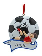 PERSONALIZED Girl Soccer Player Sports Christmas Tree Ornament Holiday Gift