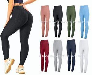 Womens Anti-Cellulite High Waist Yoga Pants Gym Leggings Sports Elastic Trousers