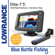 Lowrance Elite-7 Ti Mid/High/TotalScan with Navionics Plus XG50 Map