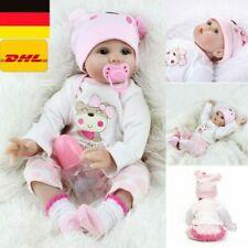 55cm Baby Puppe Reborn Lebensecht Handgefertigt Weich Silikon-Vinyl Mädchen Neu