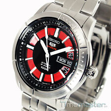 SEIKO 5 SPORTS MEN'S AUTOMATIC BLACK & RED  FACE SRP339J1 SRP339