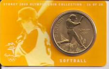 2000 $5 RAM UNC Coin Sydney Olympic coin collection- 16 of 28 (Softball) + cover